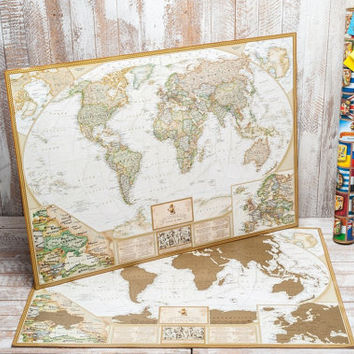 Best World Scratch Map Products On Wanelo