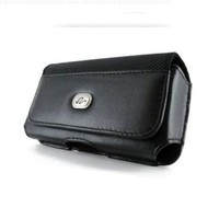 BRAND NEW BLACK HORIZONTAL IMITATION LEATHER ELEGANT PREMIUM COVER BELT CLIP SIDE CASE POUCH FOR LG Chocolate Touch VX8575