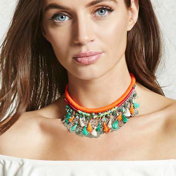 Tribal Woven Statement Necklace