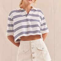 Urban Renewal Recycled Cropped Short Sleeve Polo Shirt | Urban Outfitters