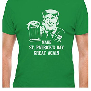 TeeStars - Trump Make St. Patrick's Day Great Again Clover Suit T-Shirt