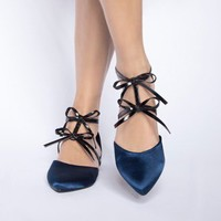 Bow strap pointy flats - Shop the latest Fashion Trends