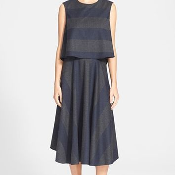 Women's Tibi Layered Wool Blend Dress,