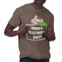 Hippy Feather's Day for Dark Apparel Shirt from Zazzle.com