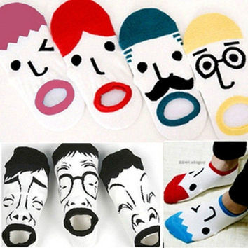 1 Pair New Lovely Fashion Cartoon Ship Sox Socks Couples Socks Christmas Gift = 1930423876