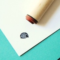 Hedgehog Rubber Stamp by norajane on Etsy