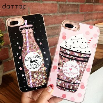 daTTap quicksand case for iphone 6 case silicone Dynamic liquid glitter cover for iphone 6s 7 plus 6plus iphone7 Case for girls