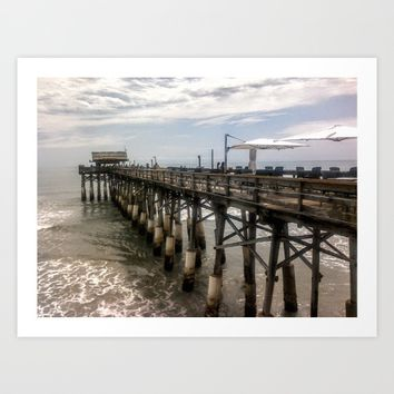 Cocoa Beach Pier  Art Print by Annette Forlenza