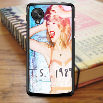 Taylor Swift Poster 1989 Cover Album Taylor Swift Singer Nexus 5 Case