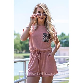 Laid Back Leopard Pocket Romper