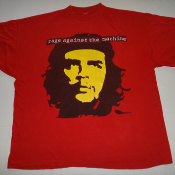 New Year Sale Vintage 1993 Rage Against The Machine  Bombtrack Promo T Shirt Che Guevara Rock 1990s Tee