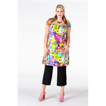 Yoek Tunic Roses Colors
