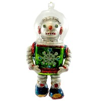 Holiday Ornament SPACE MAN ORMANENT Blown Glass 3620254 SNOWMAN