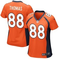 Women's Denver Broncos Demaryius Thomas Nike Orange Game Jersey
