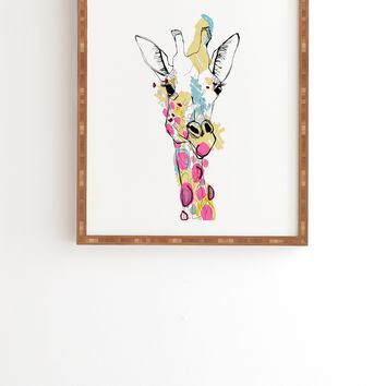 Casey Rogers Giraffe Color Framed Wall Art