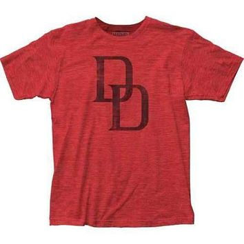 Mens Marvel Daredevil Distressed Logo Retro T-Shirt