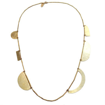 Annie Costello Brown - Cutout Shapes Arc Necklace
