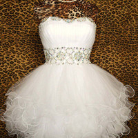 Gorgeous Chic white mini the prom dress/cocktail by FashionProm