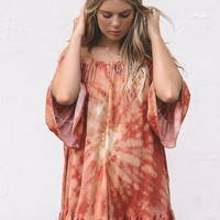 Mark Your Canvas Cinnamon Tie Dye Dress