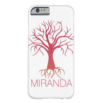 Spiral Tree Case with Name Barely There iPhone 6 Case