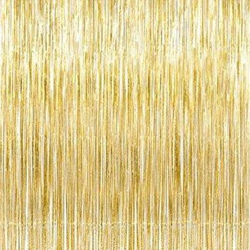 Gold Foil Fringe Curtain 1*2M Door Curtains Tinsel Shining Party Wedding Birthday Marriage Gathering Decoration Photo Backdrop