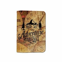 And So The Adventure Begins Customized Cute Leather Passport Holder - Passport Covers - Passport Wallet_SUPERTRAMPshop