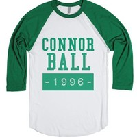Connor Ball 1996-Unisex White/Evergreen T-Shirt
