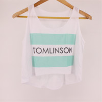 New Arrival Summer Style Tomlinson Print Crop Top Fashion Emoji Printed Women Cropped F1026