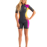 WOMENS DAWN PATROL S/S SPRINGSUIT 2MM - PURPLE