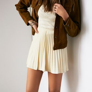 Free People Vintage Pleated A Line Skirt