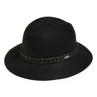 Junior Women's RVCA 'Rosy Fruits' Felt Fedora - Black