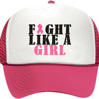Fight Like A Girl Breast Cancer Hat/Cap
