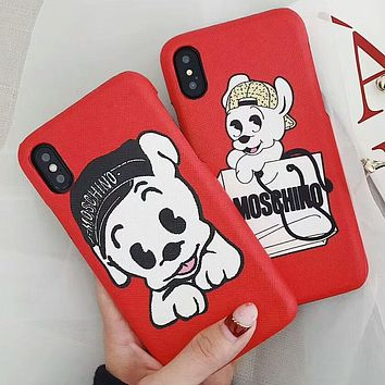 MOSCHINO 2018 Red Lips Letter iPhone 7/8 Phone Case F-OF-SJK