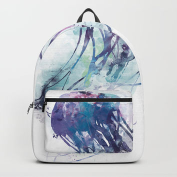 Jellyfish Backpack by monnprint