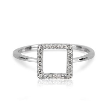 Adina Reyter Tiny Pave Square Ring