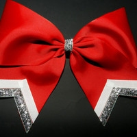"3"" Texas Size Cheer bow - single layer - trimed ends -  squad discounts"