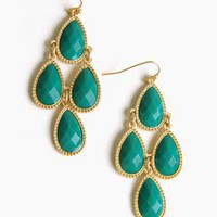 Cascading Cluster Teardrop Earrings @ FrockCandy.com