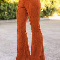 Suede It's So Bell Bottom Flare Pants