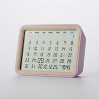 Date Perpetual Calendar Clock in Pink - Pop! Gift Boutique
