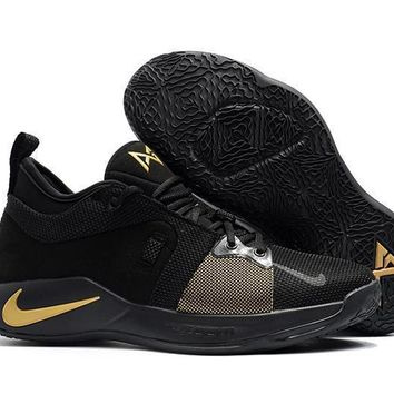 Nike Zoom Pg 2 Ep Black/gold Basketball Shoes Us 7 12