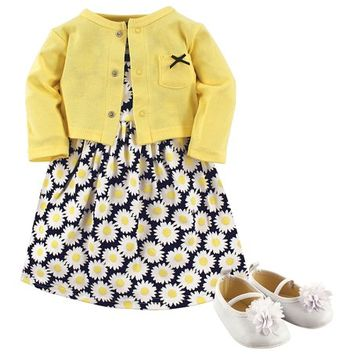 Yellow Sea Dress Set - Newborn & Infant