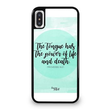 BIBLE VERSES FOR ANGER iPhone 5/5S/SE 5C 6/6S 7 8 Plus X/XS Max XR Case Cover
