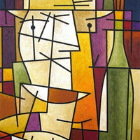 "Wine Canvas Art Print  - ""Wine Lover"""