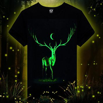 Men's Fashion Noctilucent Men Short Sleeve T-shirts Animal Innovative Bottoming Shirt [10240450317]
