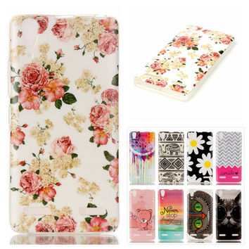 Luxury Owl Cat Cartoon Painted Soft Silicon TPU Skin Phone Case For Lenovo A6000 A6010 A 6000 A 6010 Back Cover Protective Shell