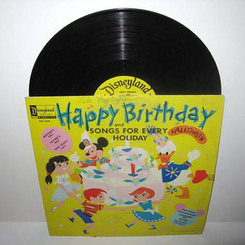 Vinyl Record Album Disney's Happy Birthday & by JustCoolRecords