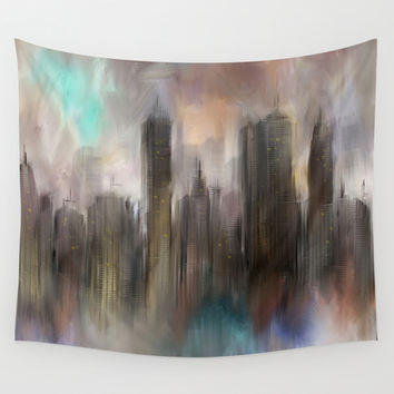 Skyline Wall Tapestry by Rafael&Arty