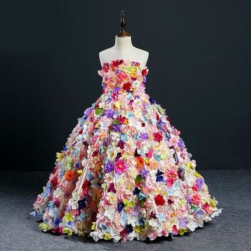 Girls Tulle Pageant Dress Carnival Costume Flower Girl Gown Princess Wedding Birthday Party Dresses