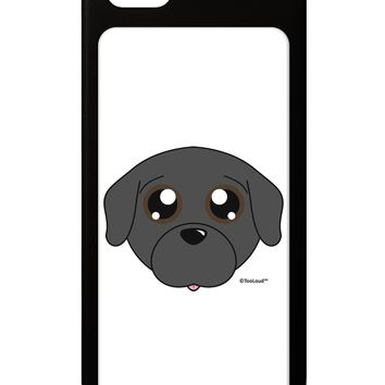 Cute Pug Dog - Black iPhone 5 / 5S Grip Case  by TooLoud
