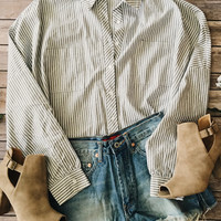 Boyfriend Button Down (Gray)